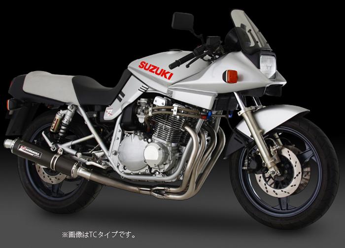 YOSHIMURA JAPAN 【お取り寄せ】機械曲げチタンサイクロン チタン/カーボン GSX1100S GS110X〔決済区分:代引き不可〕