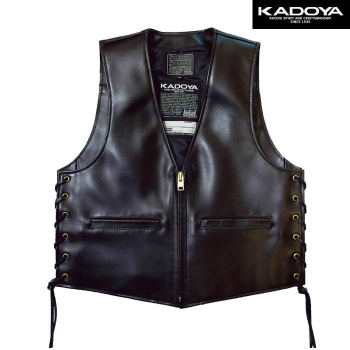 KADOYA 〔WEB価格〕0502【大きいサイズ】 ZB-VEST レザーベスト(ZB ベスト)