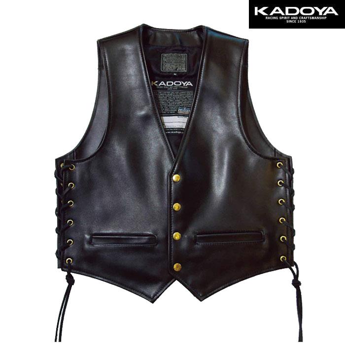 KADOYA 〔WEB価格〕0503【大きいサイズ】 ZA-VEST レザーベスト(ZA ベスト)