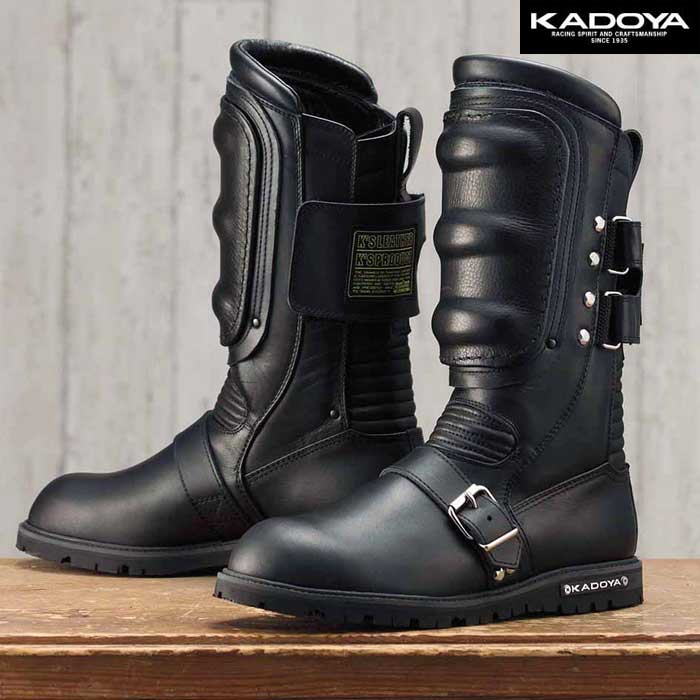 KADOYA BLACK SHIELD ミドルカットブーツ