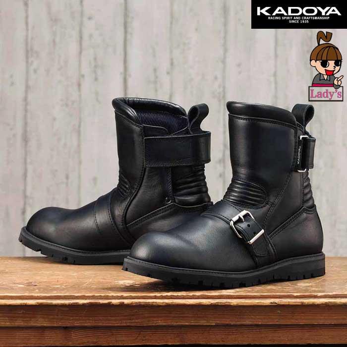 KADOYA 【レディース】4313 BLACK ANKLE ショートブーツ