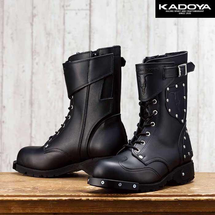 KADOYA HAMMER BOOTS SHORT(ハンマーブーツショート) -ブラック×ブラック