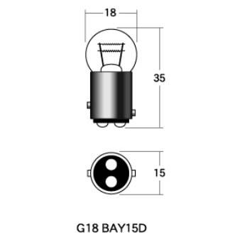 M&Hマツシマ 〔WEB価格〕M&Hマツシマ 12V18/5W口金球 G18 2個パック