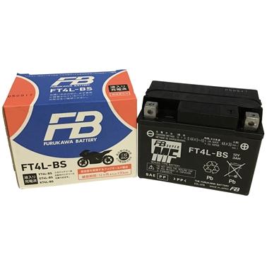 古河電池 FT4L-BS 二輪バッテリー液入充電済