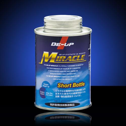 BE-UP 〔WEB価格〕BT0001 MIRACLE添加型オイル改質剤 210ml 4959033621514