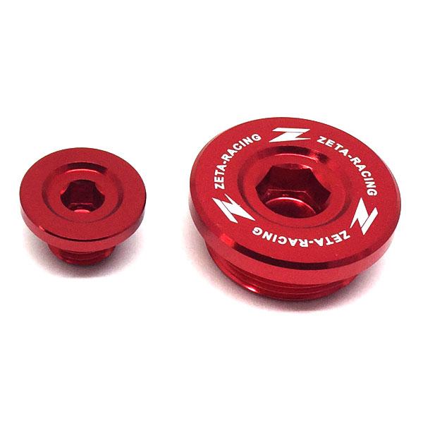 DIRTFREAK 【WEB価格】ZE89-1210 ZETA エンジンプラグ RED KX250F,RMZ250'-06