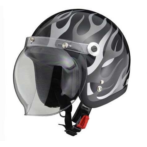 リード工業 ジェットヘルメット ブラックフレア BC-10 4952652008230 57-60cm(フリー)