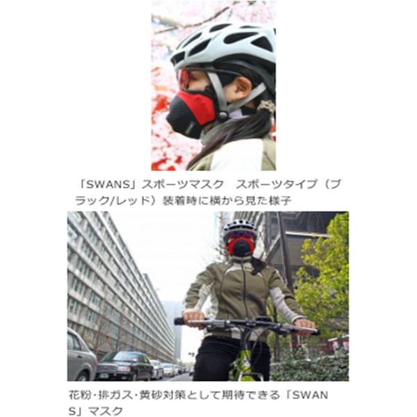 SWANS 【WEB限定】SSM-02 スポーツマスク スポーツタイプ 排ガス/花粉/PM2.5対策