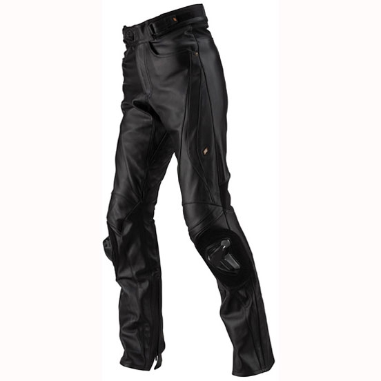 ST-X D3O LEATHER PANTS(STRAIGHT) BLACK