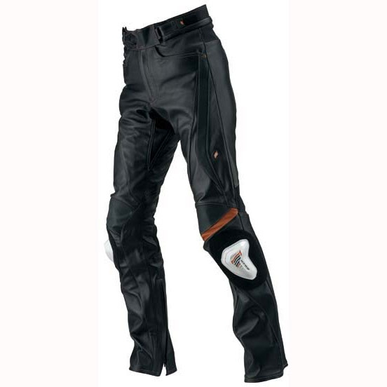 HYOD PRODUCTS ST-X D3O LEATHER PANTS(STRAIGHT) BLACK/ORANGE STITCH