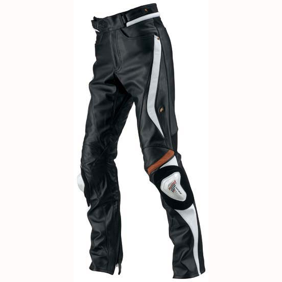 HYOD PRODUCTS ST-X D3O LEATHER PANTS(STRAIGHT) BLACK/WHITE