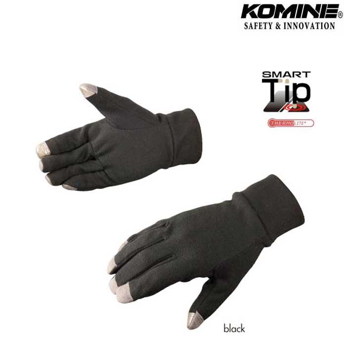 komine GK-757 サーモライトインナーグローブ 防寒 保温 ブラック
