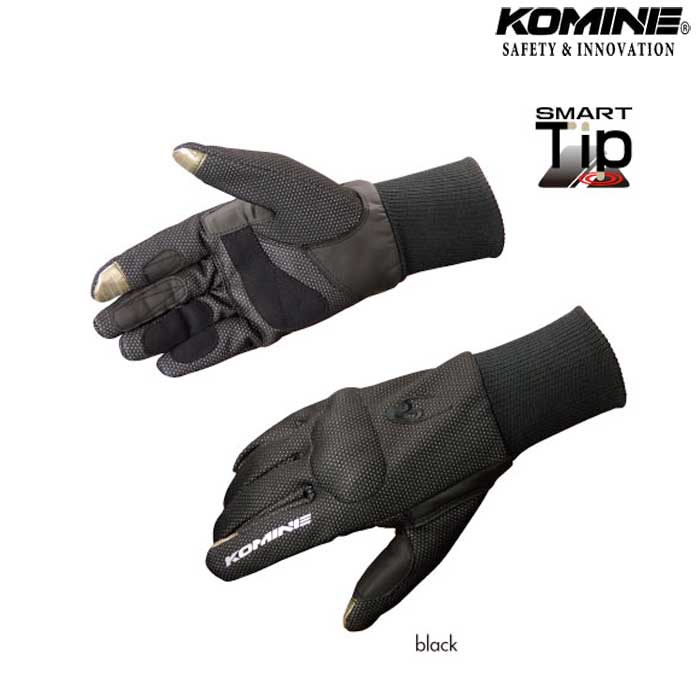 komine GK-764 ウインドプルーフ グローブ OTARDA『オタルダ』 II防風 防寒 保温 スマホ対応