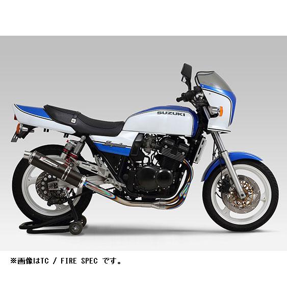 YOSHIMURA JAPAN 【受注生産】チタン機械曲サイクロン マフラー TTB GSX400インパルス'94-'02〔決済区分:代引き不可〕