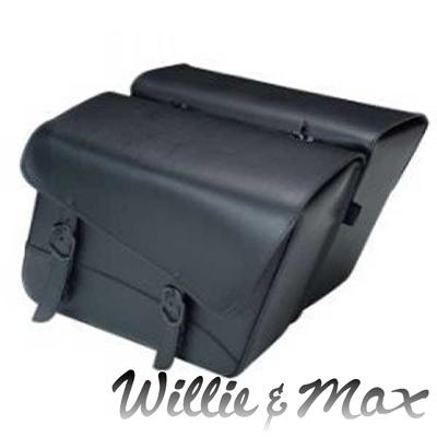 WILLIE&MAX 【WEB限定】ブラックジャック ラージスラント サドルバッグ