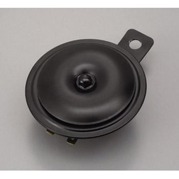 DAYTONA 〔WEB価格〕ホーン12V 低音 外径φ80 ステー穴φ8 ブラック