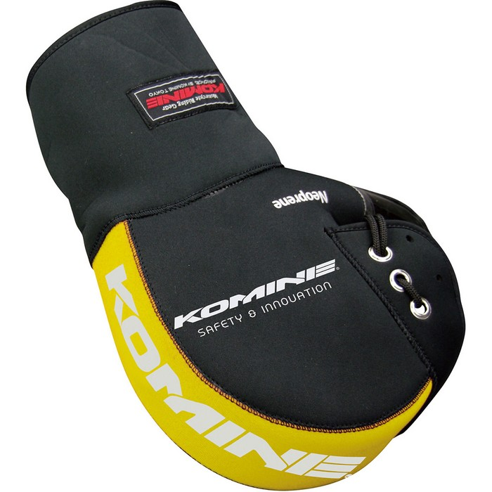 komine AK-049 ネオプレンハンドルウォーマー ロング ブラック/イエロー◆全4色◆