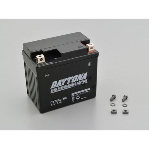 DAYTONA 92877 ハイパフォーマンスバッテリー【DYTX5L-BS】MFタイプ