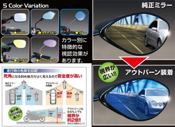 TRICK STAR 【アウトレット】個別配送のみ アウトバーンワイドビューミラー