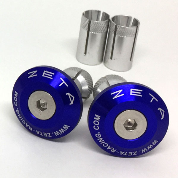 DIRTFREAK ZE48-7007 ZETA バーエンドプラグ 29mm BLUE