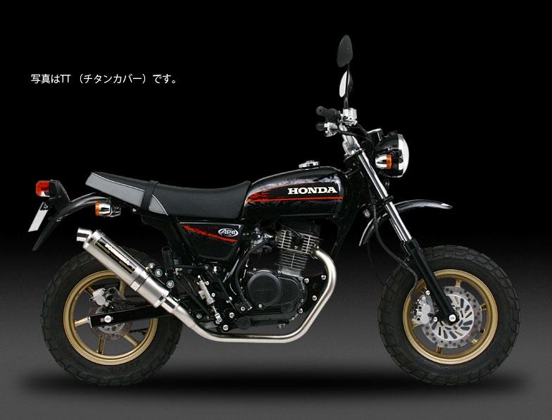 YOSHIMURA JAPAN 【お取り寄せ】機械曲げチタンサイクロン チタン/カーボン Ape100 ~2006年他〔決済区分:代引き不可〕