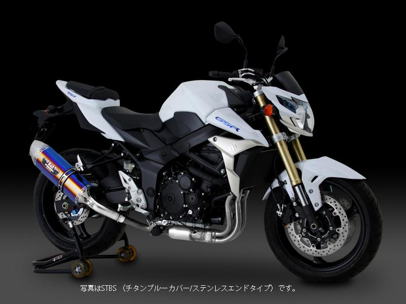 YOSHIMURA JAPAN Slip-On R-77Jサイクロン EXPORT SPEC SMS GSR750 '11L1/EU仕様,'13国内仕様