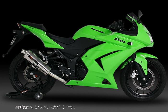 YOSHIMURA JAPAN Slip-On Tri-Ovalサイクロン Ninja250R '08-'12
