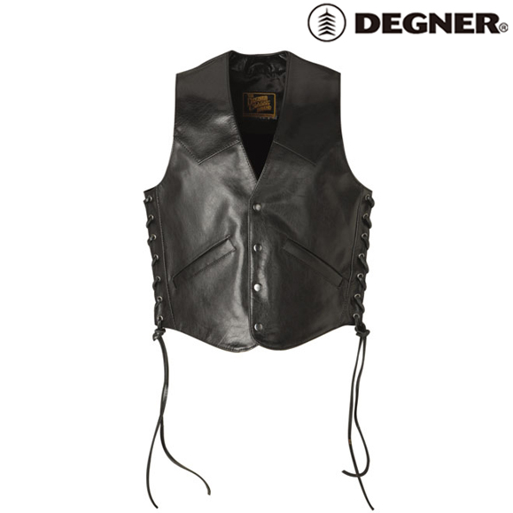 DEGNER 〔WEB価格〕3S-V2A ソフトレザーベスト 春夏用