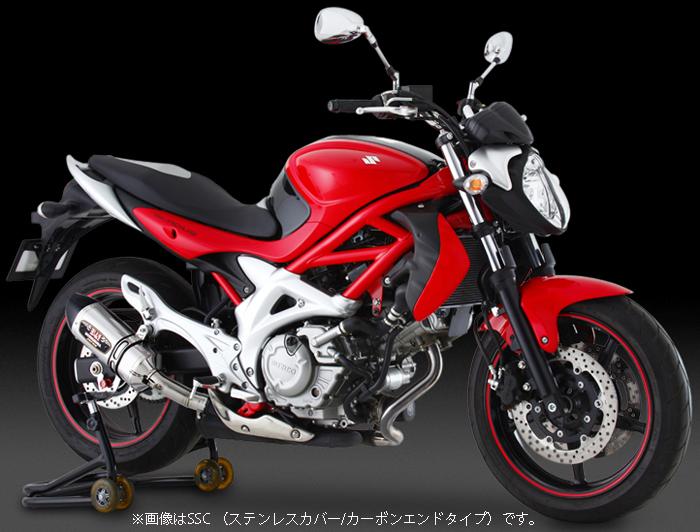 YOSHIMURA JAPAN Slip-On R-77S サイクロンカーボンエンドEXPORT SPEC 政府認証(SSC) GLADIUS400 '09-'10/650 '09-'10 他
