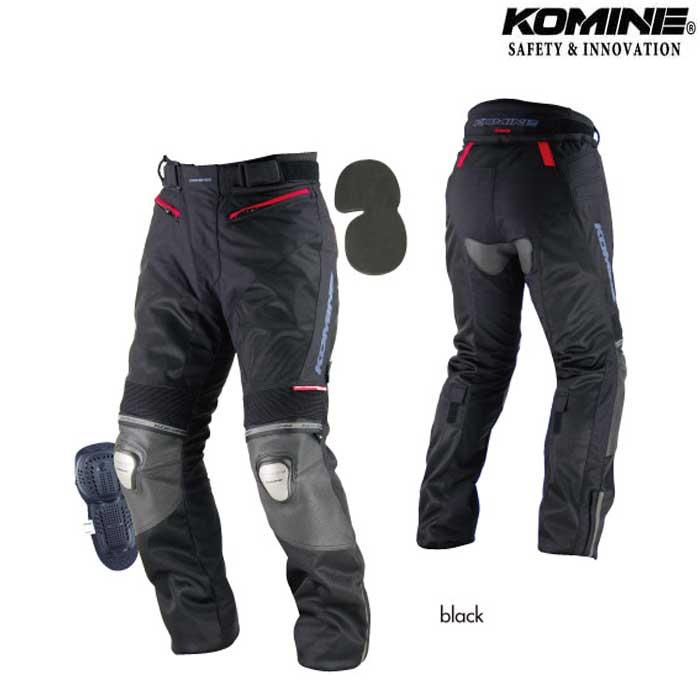 komine 〔WEB価格〕PK-712 チタニウムレザーメッシュパンツ RIGA 『リーガ』
