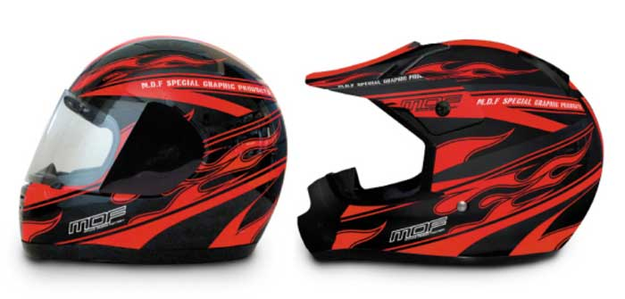 ヘルメットグラフィック「FIREROAD MODEL」