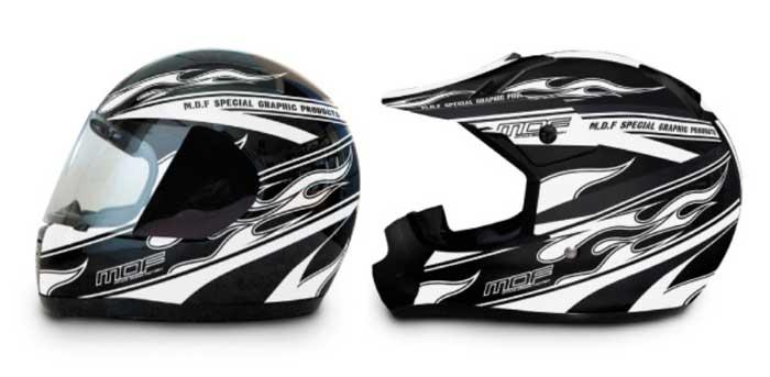 MDF ヘルメットグラフィック「FIREROAD MODEL」