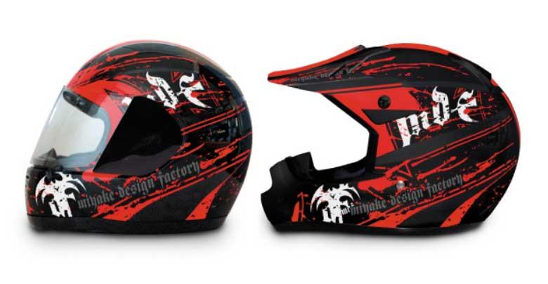 MDF ヘルメットグラフィック「BLOODY MODEL」