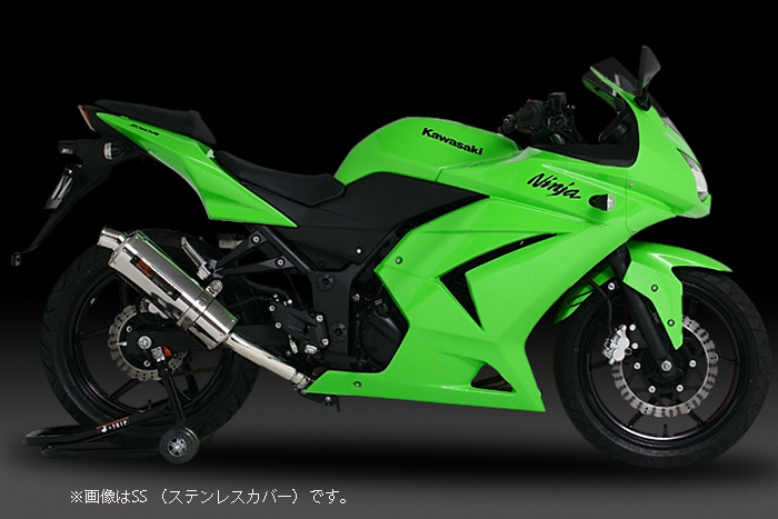YOSHIMURA JAPAN 【お取り寄せ】Slip-On Tri-Ovalサイクロン Ninja250R '08-'12〔決済区分:代引き不可〕