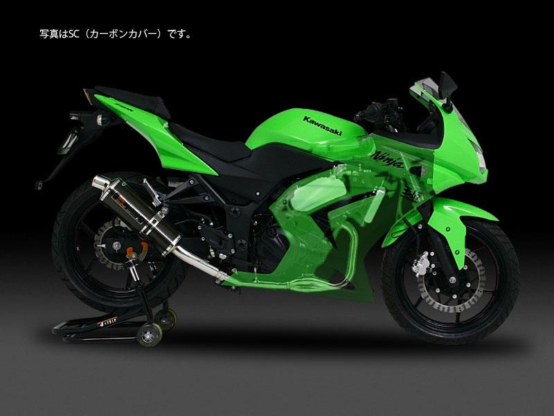 YOSHIMURA JAPAN 【WEB限定】機械曲げTri-Ovalサイクロン(1エンド)政府認証 Ninja250R 2008~2012年