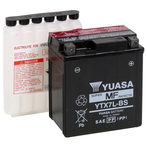 GS YUASA 〔WEB価格〕【充電済み】12VバッテリーVRLA(制御弁式) YTX7L-BS-GY