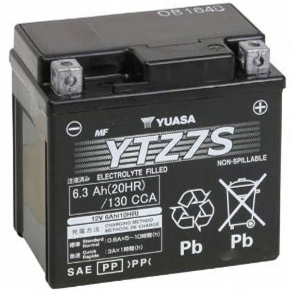 GS YUASA 〔WEB価格〕【充電済み】12VバッテリーVRLA(制御弁式) YTZ7S-GY-C