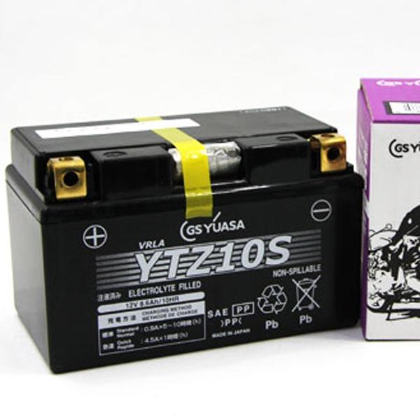GS YUASA 〔WEB価格〕【充電済み】12VバッテリーVRLA(制御弁式) YTZ10S-GY-C