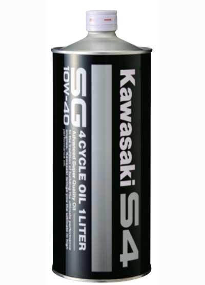 KAWASAKI 〔WEB価格〕純正4サイクルオイル S4  SG10W-40  1L