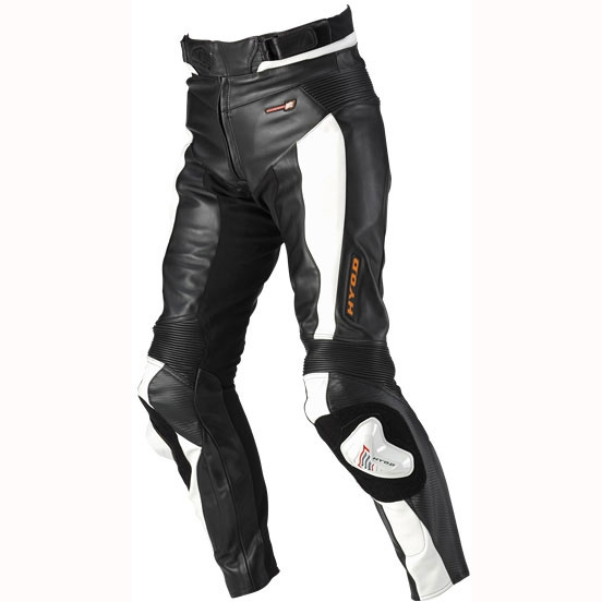 HYOD PRODUCTS ST-X LEATHER PANTS (BOOTS-IN) BLACK/WHITE