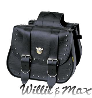 WILLIE&MAX 【WEB限定】スタッド ツーリングサドルバッグ