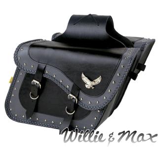 WILLIE&MAX 【WEB限定】グレイサンダースタッテッド スーパーサドルバッグ