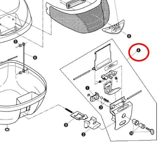 GIVI 補修部品 HS260 ロックセット
