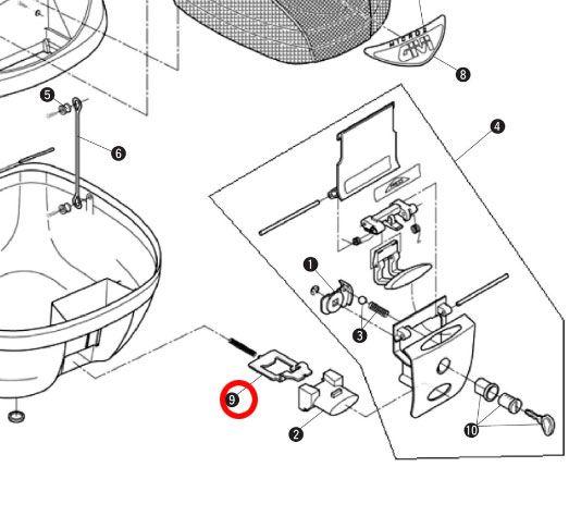 GIVI 補修部品 Z310N ボルト(ベース固定金具) E230/E260用