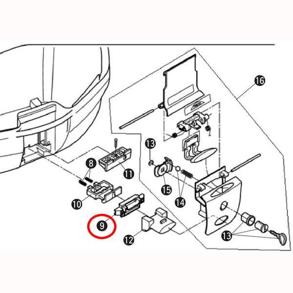 GIVI 補修部品 Z1404R プッシュボタン V35