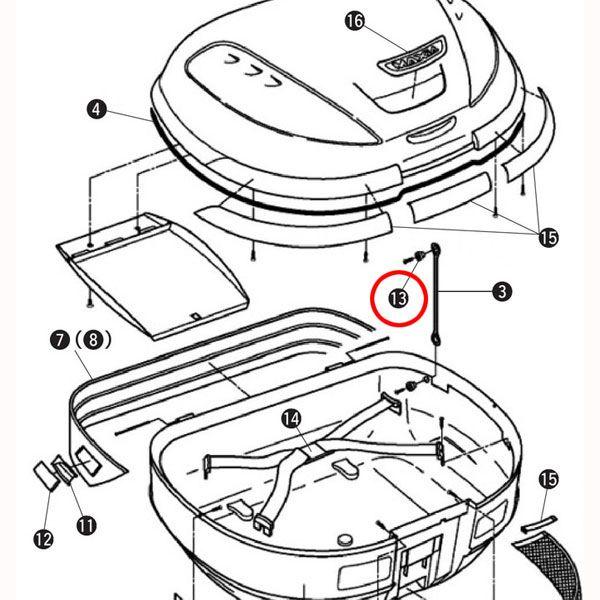 GIVI 補修部品 Z339 レッドプーリー E52