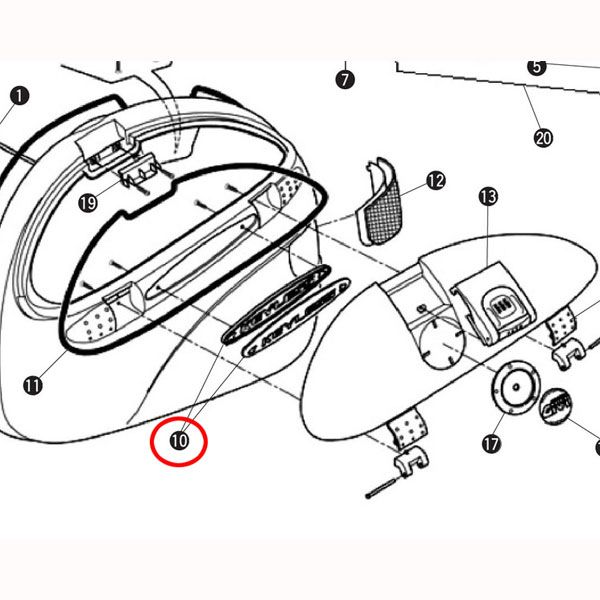 GIVI 補修部品 Z548 KEYLESSエンブレム