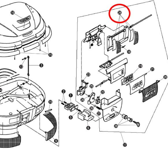 GIVI 補修部品 Z616KIT E52リフレクター中央左右2本