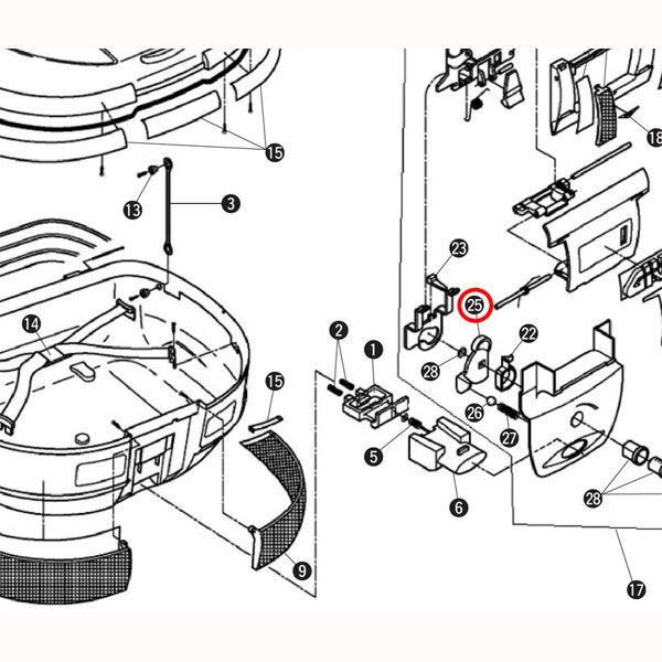 GIVI 補修部品 Z628 回転ツメ(ロックプレート) E52
