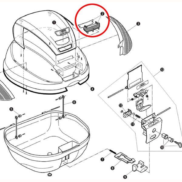 補修部品 Z750R リフレクター(中央) E370
